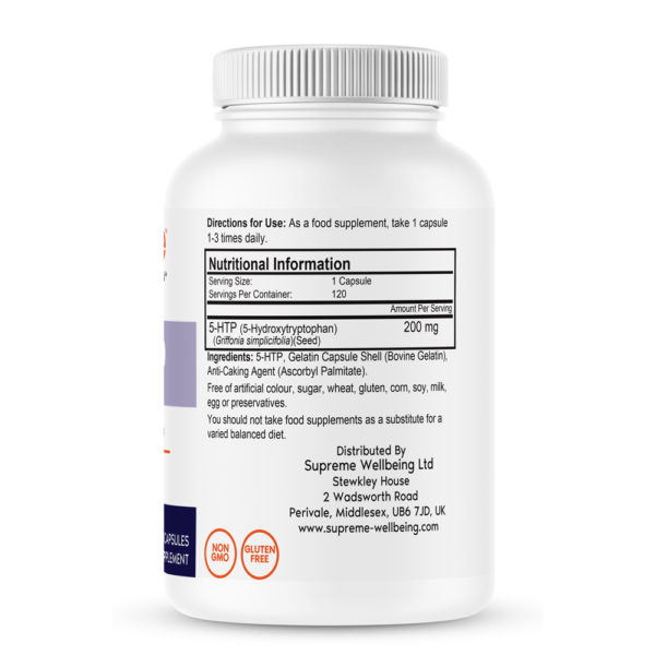 5-HTP 200mg Bottle Information - Bestvite